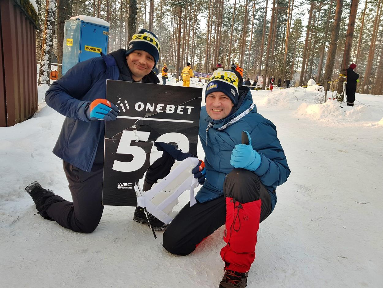 Ahlin Onebet Rally Sweden jump spectators