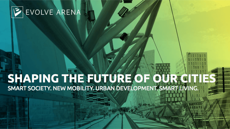 Evolve Arena: Shaping the future of our cities - Ahlin Kommunikasjon: Reklame, design og markedsføring i Lillestrøm